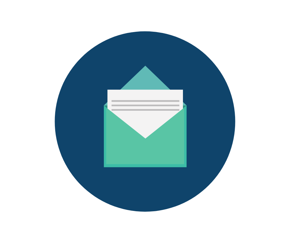 Newsletter circle icon