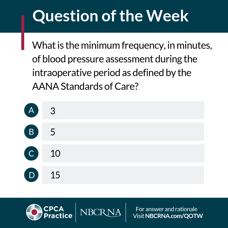Question of the Week | NBCRNA