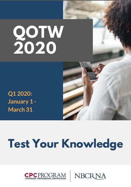 QOTW Booklet Q1 2020